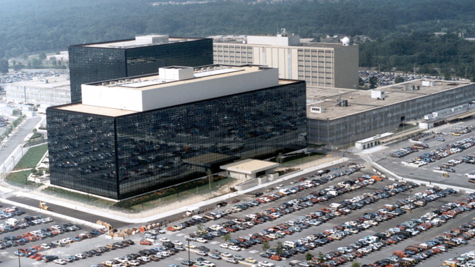 An undated aerial handout photo shows the National Security Agency (NSA) headquarters building in Fort Meade, Maryland. (Reuters)
