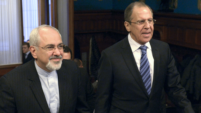 Russian Foreign Minister Sergey Lavrov, right, and Iranian Foreign Minister Mohammad Javad Zarif (RIA Novosti)