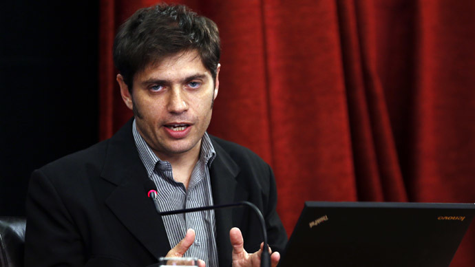 Argentina's Economy Minister Axel Kicillof (Reuters/Marcos Brindicci)