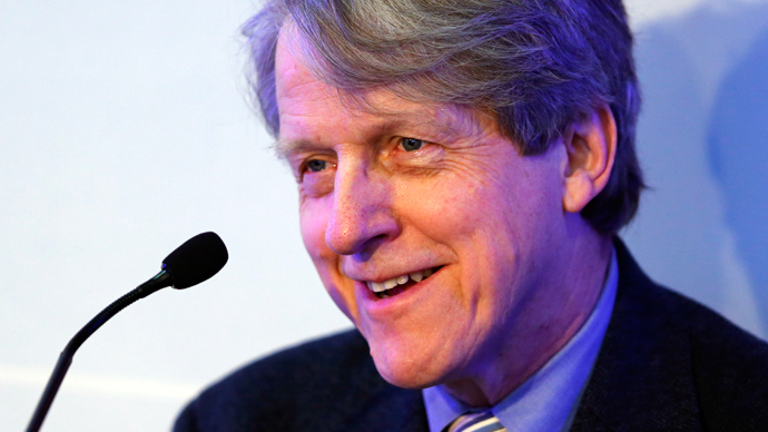 Robert J. Shiller, Sterling Professor of Economics at Yale University attends a session at the annual meeting of the World Economic Forum (WEF) in Davos January 24, 2014. (Reuters / Denis Balibouse)