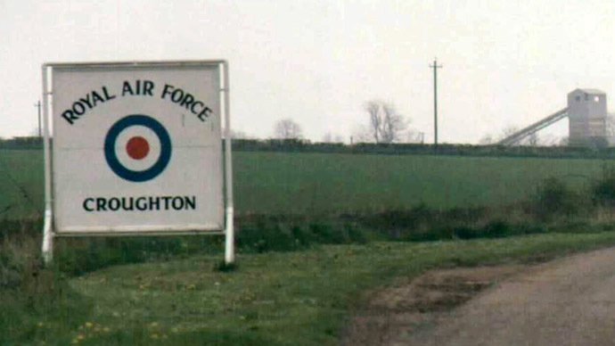 RAF Croughton Front Gate Sign (Photo from wikipedia.org)