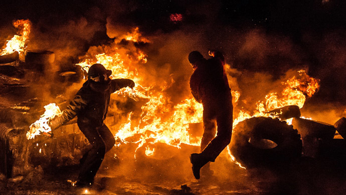 Kiev, January 25, 2014 (AFP Photo/Dmitry Serebryakov)