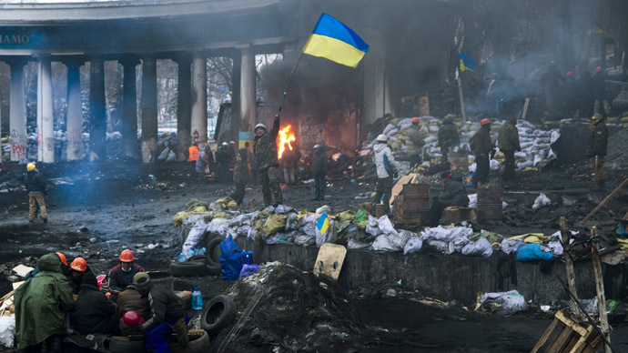 Kiev, January 28, 2014.  (Reuters/Thomas Peter)