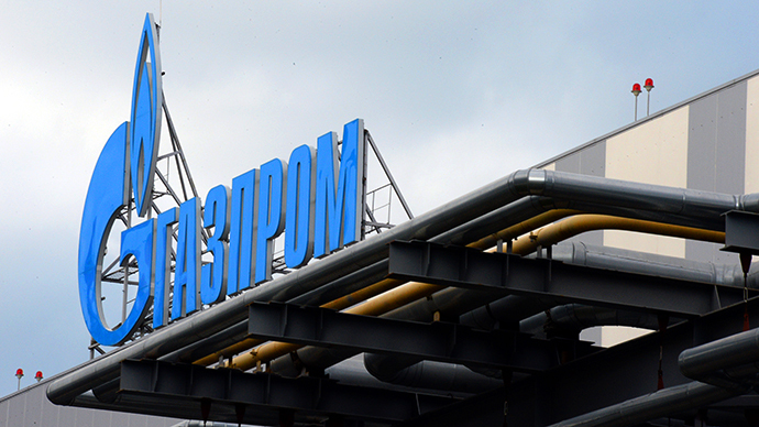 The company logo of Russian natural gas producer Gazprom (AFP Photo / Yuri Kadobnov