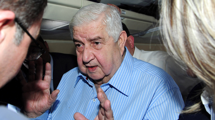 Syrian Foreign Minister Walid Muallem (AFP Photo / SANA)
