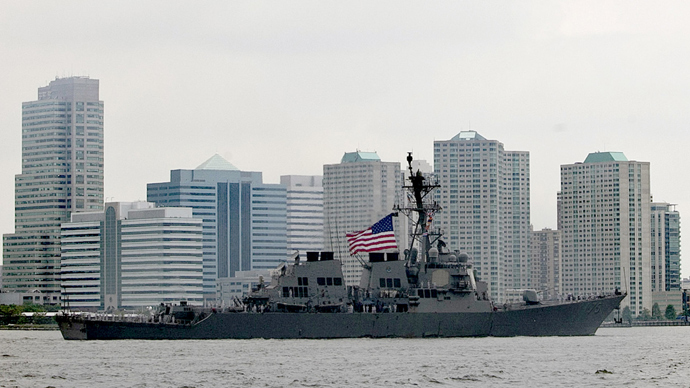 USS Donald Cook (DDG 75) on the Hudson River (AFP Photo / Allison Joyce)