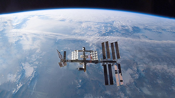 The International Space Station (Credit: STS-122 Shuttle Crew, NASA)