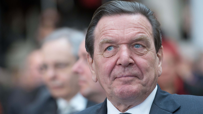 Former German Chancellor Gerhard Schroeder (AFP Photo)