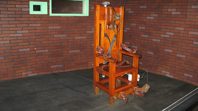 """Old Sparky"", the decommissioned electric chair in which 361 prisoners were executed between 1924 and 1964 (AFP Photo / Fanny Carrier)"