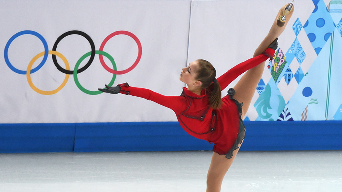 Russia's Julia Lipnitskaya performs in the Women's Figure Skating Team Free Program at the Iceberg Skating Palace during the Sochi Winter Olympics on February 9, 2014. (AFP Photo / Damen Meyer)
