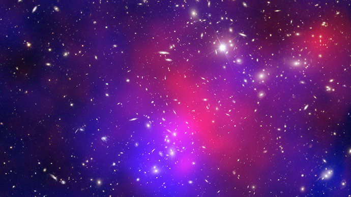 This composite image obtained August 15, 2012 features one of the most complicated and dramatic collisions between galaxy clusters ever seen (AFP Photo / NASA)