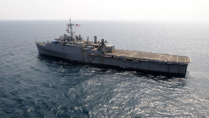 USS Ponce (AFP Photo / US Navy / Blake Midnight)