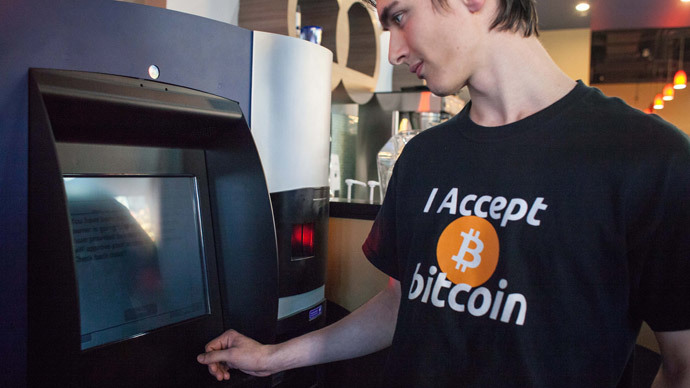 The world's first bitcoin ATM in Vancouver.(AFP Photo / David Ryder)