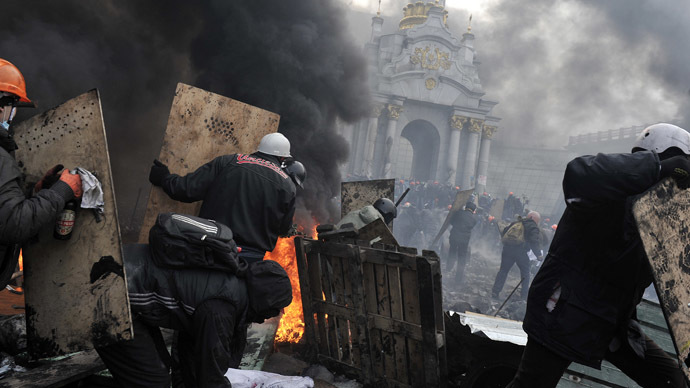 Kiev, February 20, 2014. (AFP Photo/Louisa Gouliamaki)