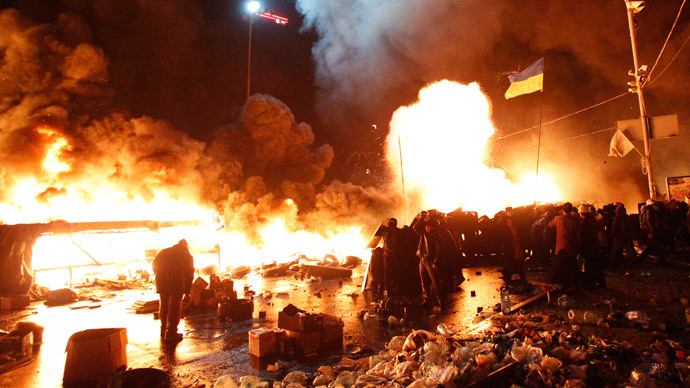 Kiev, February 18, 2014. (Reuters / David Mdzinarishvili)