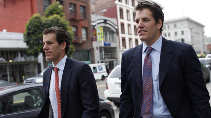 Cameron Winklevoss (L) and brother Tyler Winklevoss (Reuters/Stephen Lam)