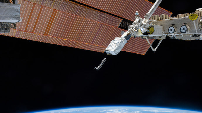 The Small Satellite Orbital Deployer, deploys a set of NanoRacks CubeSats.(Reuters / NASA)