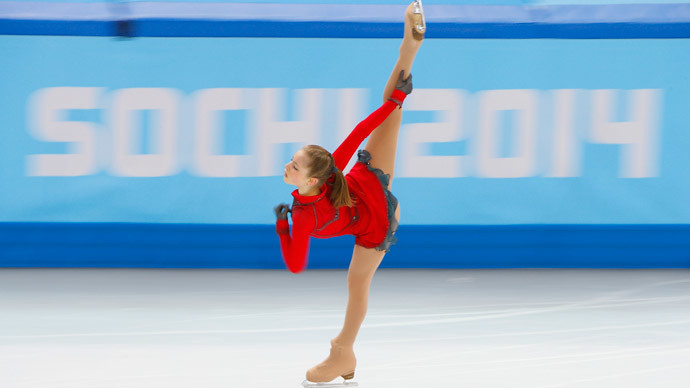 Yulia Lipnitskaya of Russia competes during the figure skating team ladies' free skating at the Sochi 2014 Winter Olympics, February 9, 2014. (Reuters / Brian Snyder)