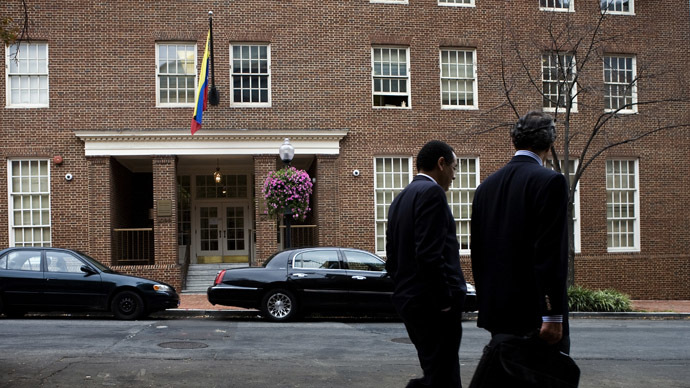 The embassy of Venezuela in Washington, DC. (Brendan Smialowski/Getty Images/AFP)