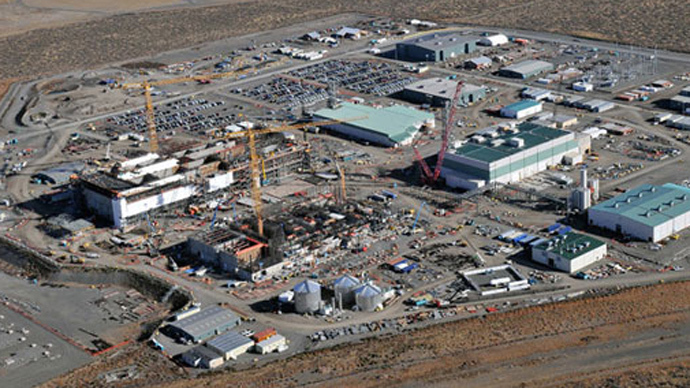The nuclear waste processing facility near Hanford, Washington (Image from pogo.org)