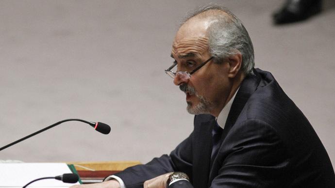 Syrian Ambassador to the U.N. Bashar Ja'afari (Reuters/Eduardo Munoz)