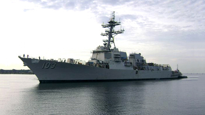 The guided missile cruiser USS TRUXTUN (Photo from wikipedia.org)