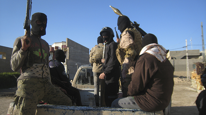 File photo. This picture allegedly shows ISIL fighters.(Reuters)