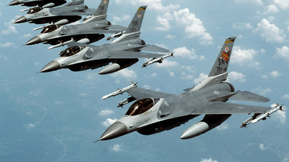 "F-16 ""Fighting Falcon"" jets (Reuters/Staff Sgt. Greg L. Davis)"