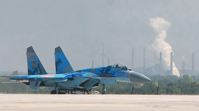 An Ukrainian Air Force Su-27 jet fighter (Reuters / Stringer)