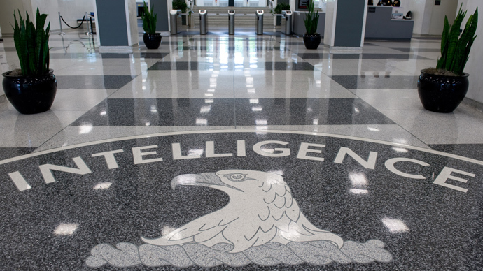 The Central Intelligence Agency (CIA) logo is displayed in the lobby of CIA Headquarters in Langley, Virginia (AFP Photo / Saul Loeb)