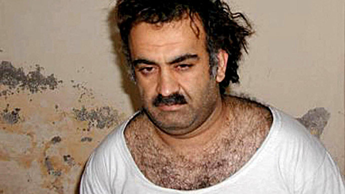 Khalid Sheikh Mohammed, alleged organiser of the September 11, 2001 attacks, pictured on a July, 2009 photo, allegedly at Guantanamo Bay (AFP Photo / www.muslim.net)