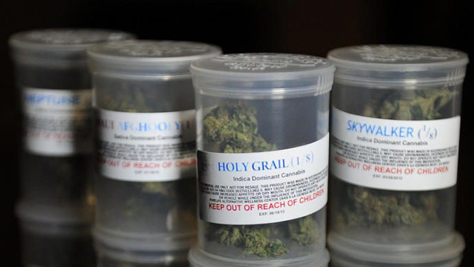 A sample of various strains of medical marijuana (AFP Photo / Frederic J. Brown)