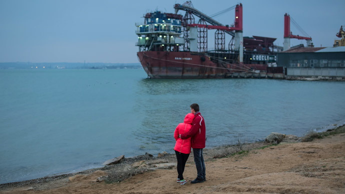 Kerch Strait shore. (RIA Novosti / Andrey Stenin)