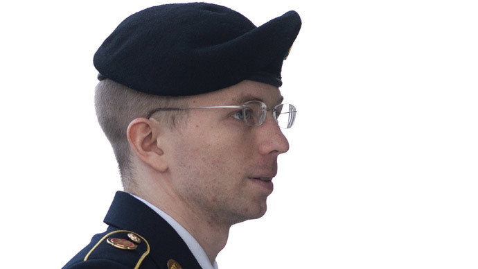 US Army Private First Class Bradley Manning.(AFP Photo / Saul Loeb)