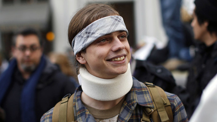 Marine veteran Scott Olsen (Reuters/Stephen Lam)