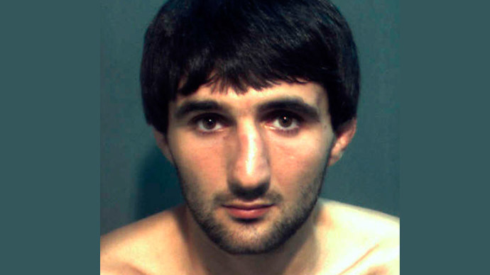 Ibragim Todashev is pictured in this undated booking photo courtesy of the Orange County Corrections Department. (Reuters/Orange County Corrections Department)