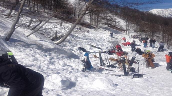 Avalanche in Rosa Khutor. (Photo courtesy / 23.mchs.gov.ru)