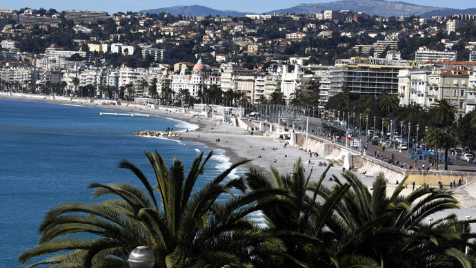 A general view of the Promenade des Anglais in Nice on the French Riviera, southeastern France (Reuters/Eric Gaillard)