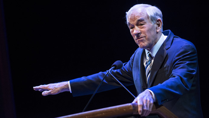 Former US Representative Ron Paul (R-TX) (AFP Photo/Brendan Smialowski)