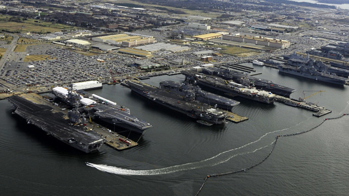 US Naval Station Norfolk, Virginia (Reuters/U.S. Navy/MC2 Ernest R. Scott)