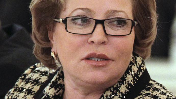 Russian Federation council chairwoman Valentina Matvienko (AFP Photo)