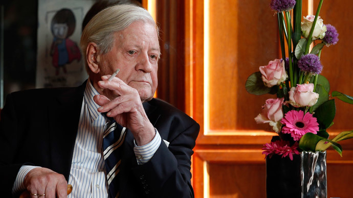 Former German Chancellor Helmut Schmidt (AFP Photo / Pool / Michael Sohn)