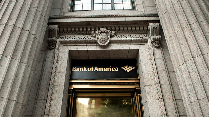 A view of a Bank of America on Pennsylvania Avenue in Washington, DC (AFP Photo)