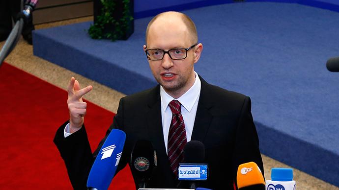 Ukraine's Prime Minister Arseniy Yatsenyuk (Reuters / Yves Herman)