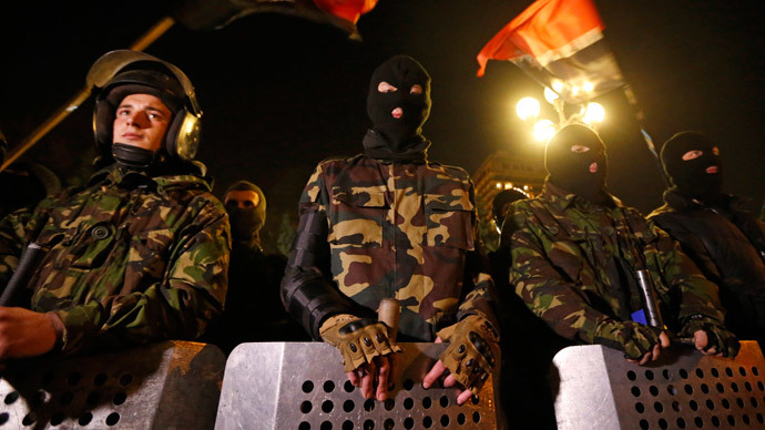Nationalists of the Right Sector movement (Reuters / Vasily Fedosenko)