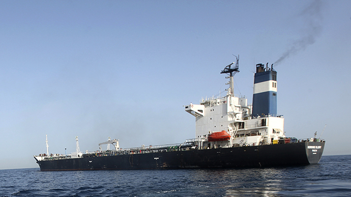 The Morning Glory is seen at the Tripoli port, March 23, 2014. (Reuters / Hani Amara)