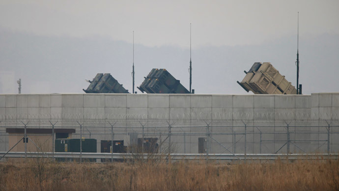 U.S. Army Patriot missile air defence artillery batteries  (Reuters / Lee Jae-Won)