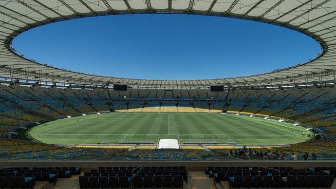 "General view of Mario Filho ""Maracana"" stadium in Rio de Janeiro, Brazil. (AFP Photo / Yasuyoshi Chiba)"