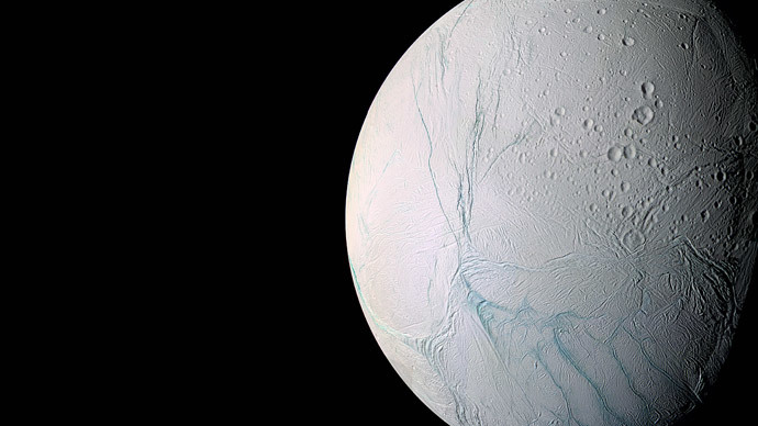 Saturn's moon Enceladus.(AFP Photo / NASA)