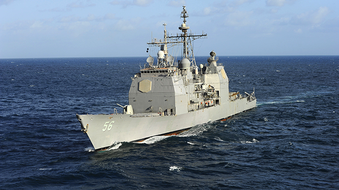 The Aegis cruiser USS San Jacinto (CG 56) (AFP Photo / US Navy / MC2 Mike DiMestico)